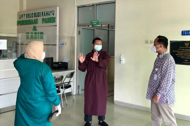RSUD Budi Rahayu jadi rumah sakit rujukan menggantikan rumah sakit darurat di lapangan tenis indoor Moncer Serius. (Foto:nyatanya.com/Diskominfo Magelang)