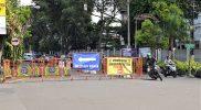 Jalan Kusumanegara ditutup mulai perempatan SGM. (Foto:nyatanya.com/Humas Kota Yogya)