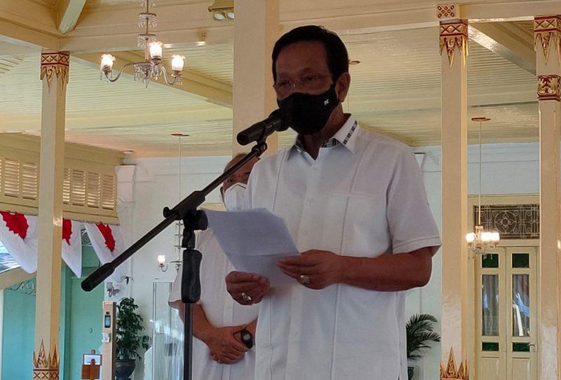 Sri Sultan HB X saat 'Sapa Aruh' Rabu (21/7/2021) sore tadi. (Foto:nyatanya.com/Humas Pemda DIY)