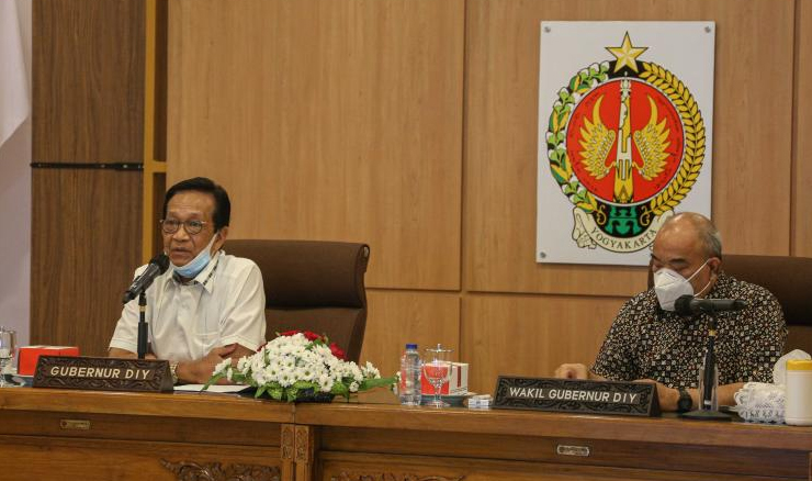 Gubernur DIY Sri Sultan HB X dan Wakil Gubernur KGPAA Paku Alm X. (Foto:nyatanya.com/Humas Pemda DIY)
