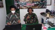 Mayor Arh Asil Harjanta tengah berikan materi Wasbang melalui daring. (Foto: nyatanya.com/zainuri arifin)