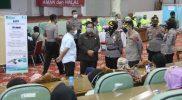 Pelaksanaan vaksinasi di Graha Bhumi Phala Temanggung. (Foto:nyatanya.com/Diskominfo Temanggung)