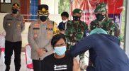 Pelaksanaan vaksinasi yang digelar Polres Temanggung. (Foto: Diskominfo Temanggung)