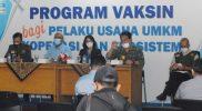Kepala Dinas Ketenagakerjaan dan Transmigrasi DIY, Aria Nugrahadi menegaskan vaksinasi diberikan gratis untuk para pekerja mandiri. (Foto:nyatanya.com/Humas Pemda DIY)