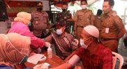 Warga di Desa Jepang antusias mengikuti vaksinasi. (Foto:nyatanya.com/Diskominfo Jateng)