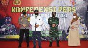 Jumpa pers serbuan vaksin untuk PKL di Karanganyar. (Foto:nyatanya.com/Diskominfo Kab. Karanganyar)