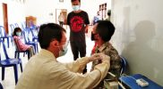 Pelakasanaan vaksinasi di Desa Madu Kecamatan Mojosongo. (Foto:nyatanya.com/Diskominfo Kab.Boyolali)