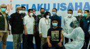 Vaksinasi bagi pelaku UMKM yang digelar di JEC. (Foto:nyatanya.com/Humas Pemda DIY)