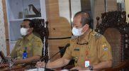 Wakil Bupati Grobogan Bambang Pujiyanto rapat koordinasi penanganan Covid-19. (Foto:nyatanya.com/Diskominfo Jateng)