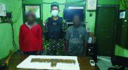 Prajurit Yon 403/WP terima penyerahan amunisi dari warga. (Foto: nyatanya.com/istimewa)
