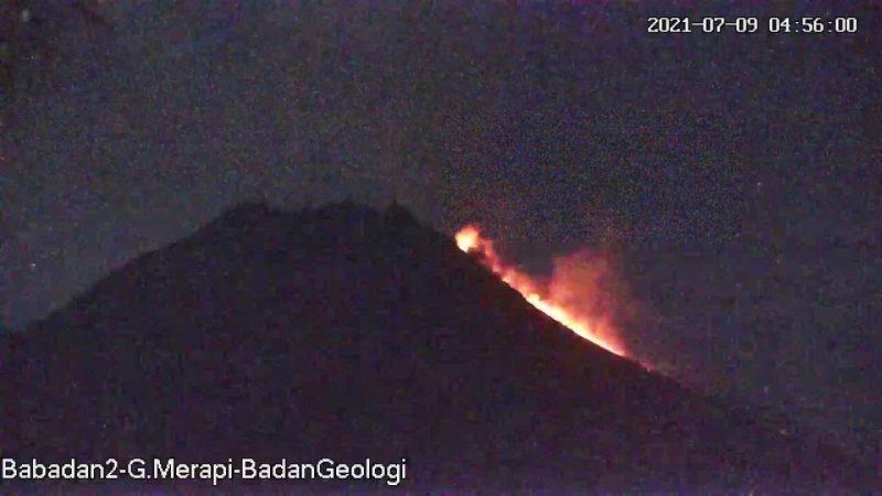 Visual Gunung Merapi, Jumat (9/7/2021) pukul 04.56 WIB. (Foto:nyatanya.com/BPPTKG)