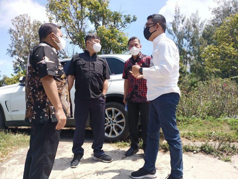 Kepala BPN Kabupaten Semarang Arya Widya Wasista saat mendampingi kunjungan kerja Wakil Menteri Agraria dan Tata Ruang (ATR) RI di Bandungan. (Foto: Diskominfo Kab Semarang)