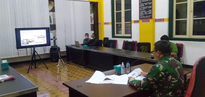 Komandan Kodim 0734/Kota Yogyakarta Letkol Inf Erwin Ekagita Yuana, S.I.P., M.Si memberikan materi