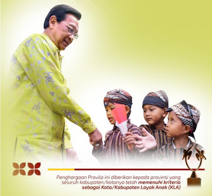 Provinsi DIY memperoleh penghargaan Provinsi Layak Anak Provilia 2021. (Foto: Humas Pemda DIY)
