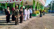 Danramil Gamping beserta jajarannya mengikuti upacara pengibaran bendera peringati HUT ke-76 RI. (Foto: dokumentasi Koramil Gamping)
