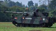 Tank Harimau Hitam alutsista karya anak bangsa mesin pembunuh penjaga NKRI. (Foto : dokumentasi TNI)