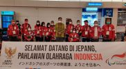 Kedutaan Besar Republik Indonesia (KBRI) Tokyo kembali menyambut kedatangan Tim Kontingen Indonesia kloter 4 untuk Paralimpiade Tokyo 2020 di Bandara Haneda Tokyo Jumat. (Foto:dok/npcindonesia/kemenpora.go.id)