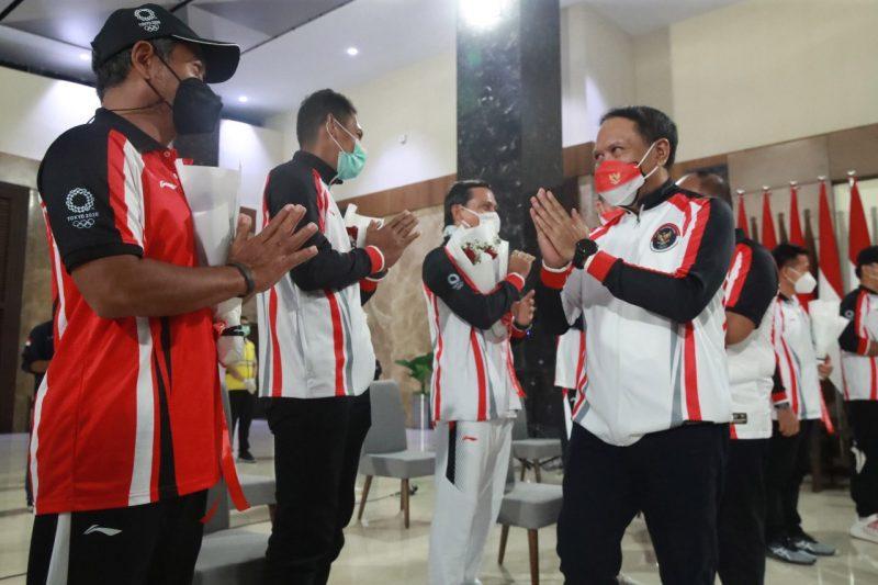 Menpora Zainudin Amali memastikan semua atlet, pelatih dan ofisial yang berangkat ke Olimpiade Tokyo 2020 akan mendapat apresiasi dari pemerintah. (Foto: kemenpora.go.id)