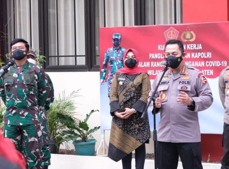 Kapolri Jenderal Pol Listyo Sigit Prabowo dalam paparannya saat kunjungan kerja di Klaten. (Foto: Humas Pemkab Klaten)