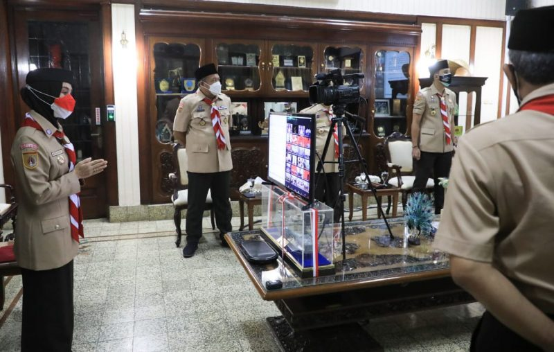 Kwarda Pramuka Jawa Tengah memperingati Hari Pramuka ke-60 secara virtual. (Foto: Diskominfo Jateng)