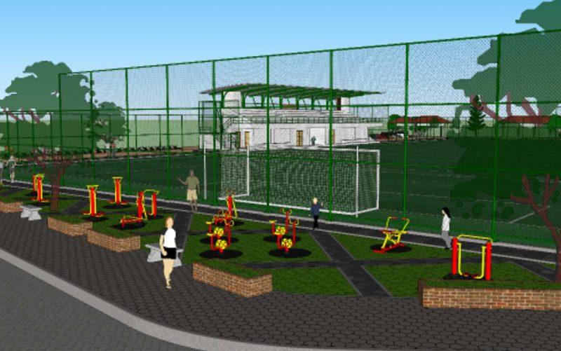 Gambar desain penataan Lapangan Karang Kotagede. (Foto: Humas Pemkot Yogya)