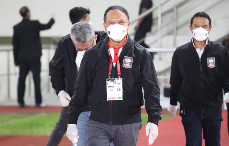 Menteri Pemuda dan Olahraga Zainudin Amali mengungkapkan Liga 1 dan Liga 2 musim 2021/2022 rencanannya akan bergulir kembali 20 Agutus mendatang. (Foto:dokumentasi kemenpora.go.id)