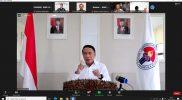 Menteri Pemuda dan Olahraga Republik Indonesia Zainudin Amali saat jumpa pers virtual tentang hasil Olimpiade 2020 Tokyo.(Foto: bagus/kemenpora.go.id)