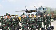 137 Nakes dari TNI tiba di Yogyakarta guna membantu percepatan penanganan Covid-19. (Foto: Pendim 0734/yka)