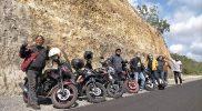 Komunitas Touring Netral saat melakukan perjalanan susur pantai selatan DIY-Jatim. (Foto: dokumentasi netral)