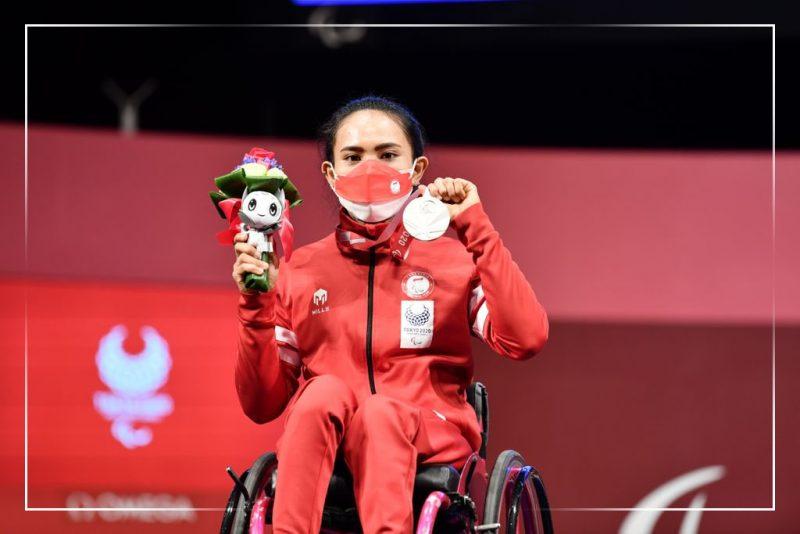 Ni Nengah Widiasih berhasil meraih perak powerlifting 41kg putri Paralimpiade Tokyo 2020.(Foto:dok/npcindonesia/kemenpora.go.id)