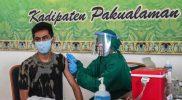 Pelaksanaan vaksinasi #PAKSIN Pakualaman Sehatkan Indonesia. (Foto: Humas Pemda DIY)