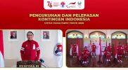 Menpora Zainudin Amali secara resmi mengukuhkan dan melepas Kontingen Indonesia untuk mengikuti Paralimpiade Tokyo 2020. (Foto:putra/kemenpora.go.id)