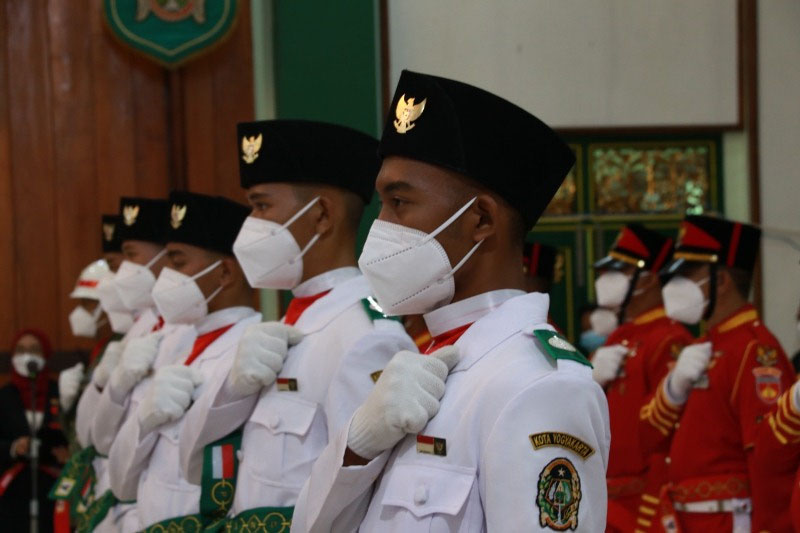 Paskibraka Tahun 2021 Kota Yogyakarta resmi dikukuhkan. (Foto: Humas Pemkot Yogyakarta)