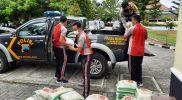 Polres Magelang, kembali menyalurkan bantuan sebanyak 8,8 ton beras dari Kemenko Marves RI. (Foto: Humas/beritamagelang)