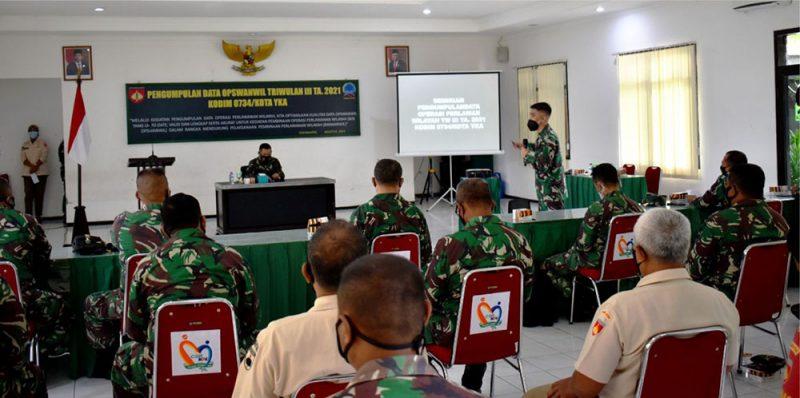 Gelar Kegiatan PUL Data Ops Wanmil Kodim 0734/Kota Yka. (Foto:Pendim 0734/yka)