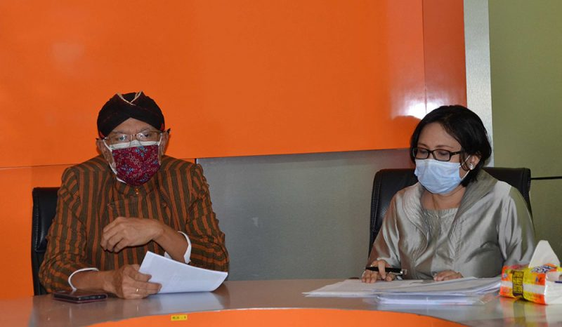 Kepala Dinas Pertanian dan Pangan Kota Yogyakarta, Suyana saat jumpa pers vaksinasi rabies di Kantor Dinas Komunikasi Informatika dan Persandian Kota Yogyakarta. (Foto: Humas Pemkot Yogyakarta)