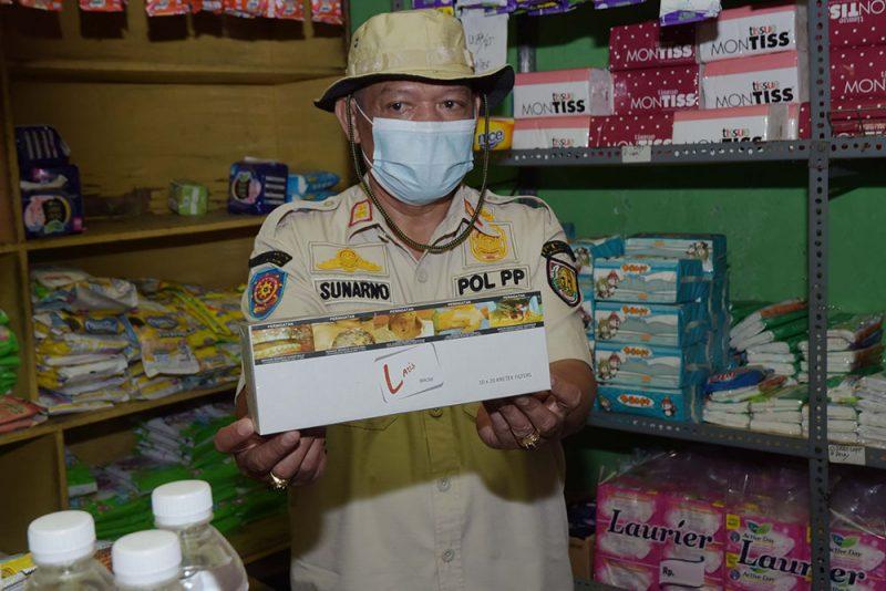 Rokok ilegal yang ditemukan di Pasar Simo. (Foto:Diskominfo Kabupaten Boyolali)
