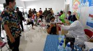 Serbuan Vaksin yang digelar Kodim Kota Salatiga. (Foto: Diskominfo Jateng)