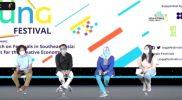 """Press Conference Virtual """"Srawung Festival 2021. (Foto:tangkapan layar zoom/agoes jumianto)"""