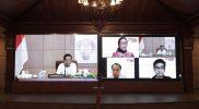 Sri Sultan Hamengku Buwono X dalam Rapat Koordinasi Vaksinasi bagi Penyandang Disabilitas. (Foto: Humas Pemda DIY)
