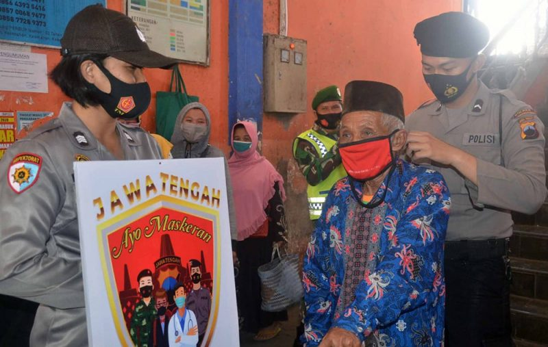 Polres Temanggung aktif sadarkan masyarakat untuk disiplin terapkan protokol kesehatan. (Foto:Diskominfo Temanggung)