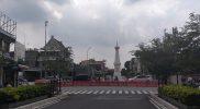Akses menuju Jalan Margo Utomo Yogyakarta kembali ditutup selama PPKM Level 4 hingga 9 Agustus 2021. (Foto: agoes jumianto)