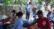 Vaksinasi massal bagi masyarakat disekitar kawasan Taman Hutan Raya (Tahura) Bunder, Gunungkidul. (Foto: Humas Pemda DIY)