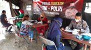 Pada Rabu (25/8/2021) kegiatan vaksinasi di Gerai Presisi Polres Magelang telah menyuntik 288 orang. (Foto: Humas/beritamagelang)