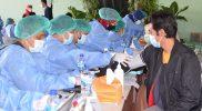 Para tenaga medis memberikan pelayanan vaksinasi Covid-19 di Kota Yogyakarta. (Foto: Humas Pemkot Yogyakarta)