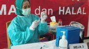 Vaksinasi dosis ketiga untuk nakes di Jawa Tengah sudah mencapai 31,36 persen. (Foto: Humas Jateng)