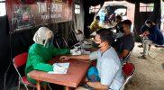 Vaksinasi yang dilaksanakan di Gerai Presisi Mapolres Magelang, Jumat (13/8/2021) berhasil menyuntikkan vaksin kepada 600 orang. (Foto: Humas/beritamagelang)