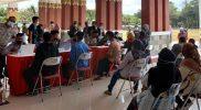 Vaksinasi yang diselenggarakan IKASUKA Magelang bekerja sama dengan Polres Magelang. (Foto: Humas/beritamagelang)