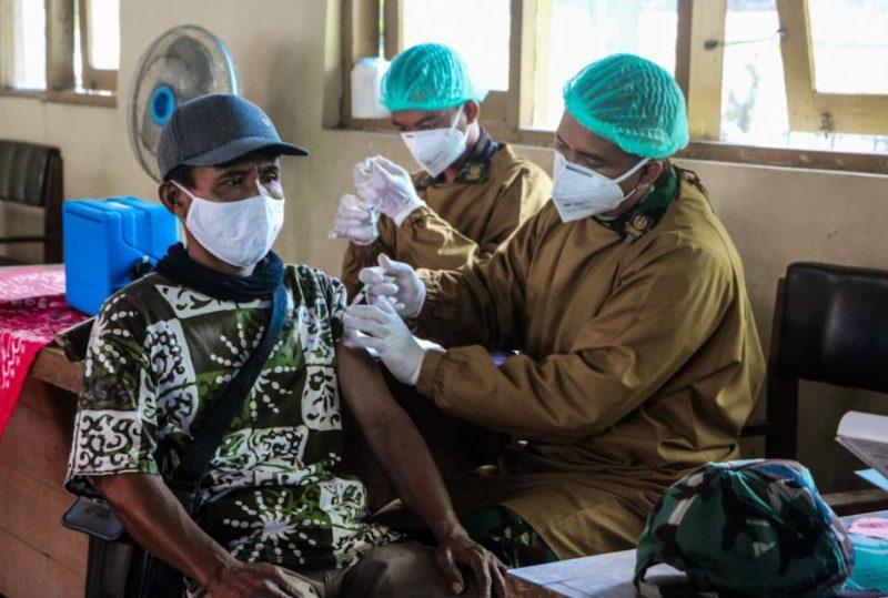 Kegiatan vaksinasi di wilayah Kapanewon Wates, Kulonprogo, mendapat sambutan positif dari masyarakat. (Foto: Humas Pemkab Kulonprogo)