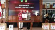 Pemerintah Kabupaten Wonogiri menerima bantuan 100 buah konsentrator oksigen dari Pemerintah Kota Surakarta. (Foto:Kominfo Wonogiri)